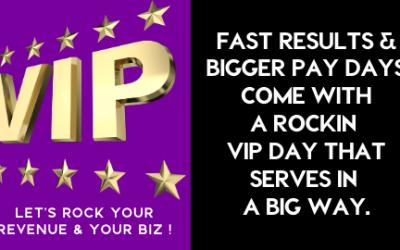 High Ticket Offers: How to Create a Rockin VIP DAY for High-Performing Clients (and profit big)!