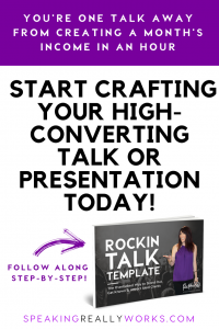 Craft Your High Converting Talk Webinar or Presentation Step by Step Template