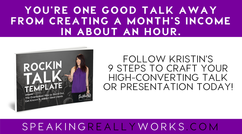 Step by Step How to Craft Your Talk with my 9 Step Talk Template