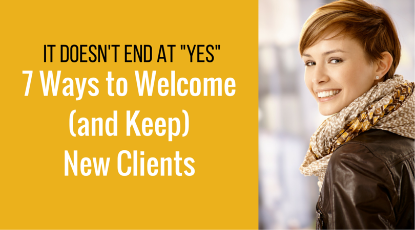 Don't leave your new client in the lurch(1)