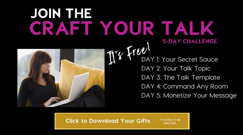 Craft Your Signature Talk Challenge Free Series