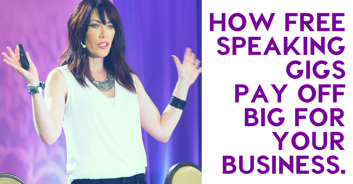 How Free Speaking Gigs Pay Off Big, Generating Big Sales for Your Business