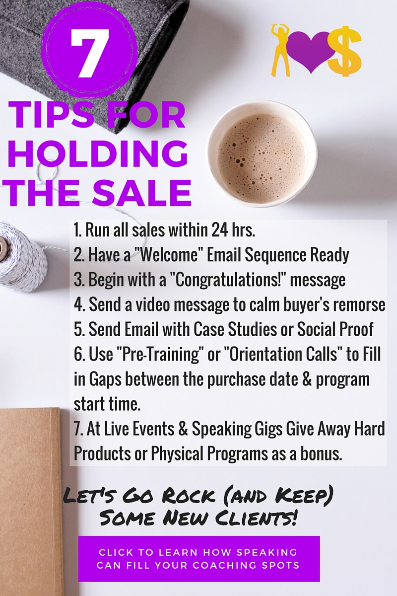 7 Tips to Help You Hold the Sales You Make