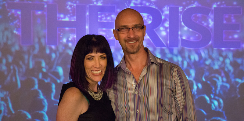 Adam and me on the stage at The Rise Live