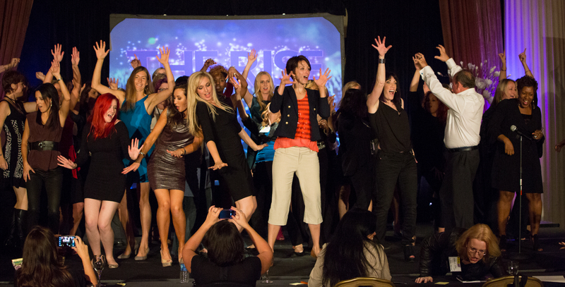 Audience Dancing on Stage with Kristin at The RISE LIVE Event 2013