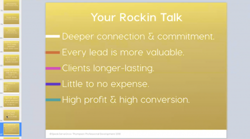 How to Rock Your Talk to $50K months
