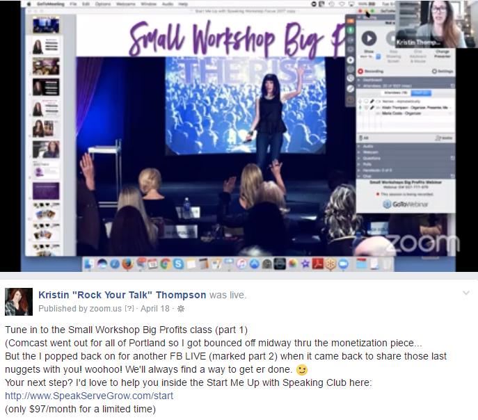 Small Workshops Big Profit: Live Training