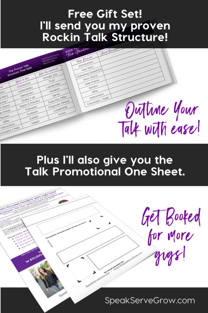 Proven Talk Structure & Talk Promotional One Sheet
